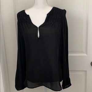 Jolie black Silk blouse